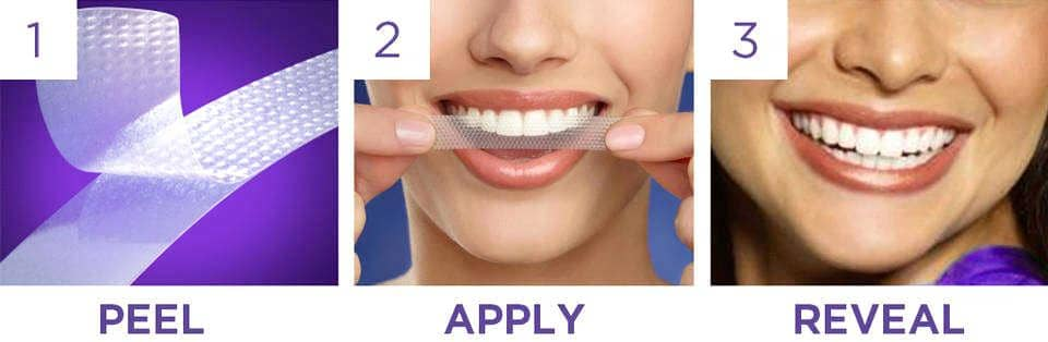 Cum folosesc benzile de albire Dental White Strips.png