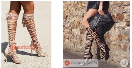 sandale gladiator lungi cu toc pentru femei