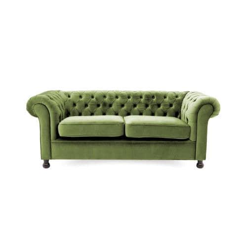 Canapeaua fixa cu 3 locuri- Chesterfield Olive Green-min